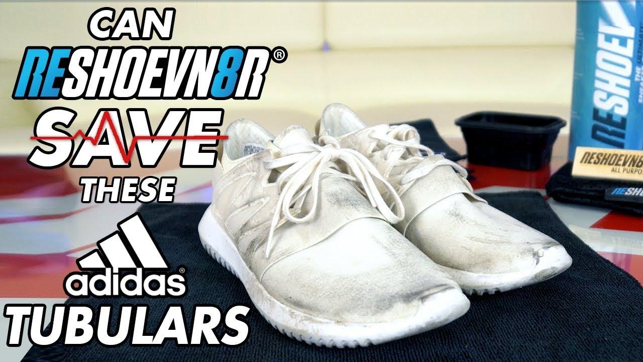 Can Reshoevn8r save these triple white Adidas Tubulars?