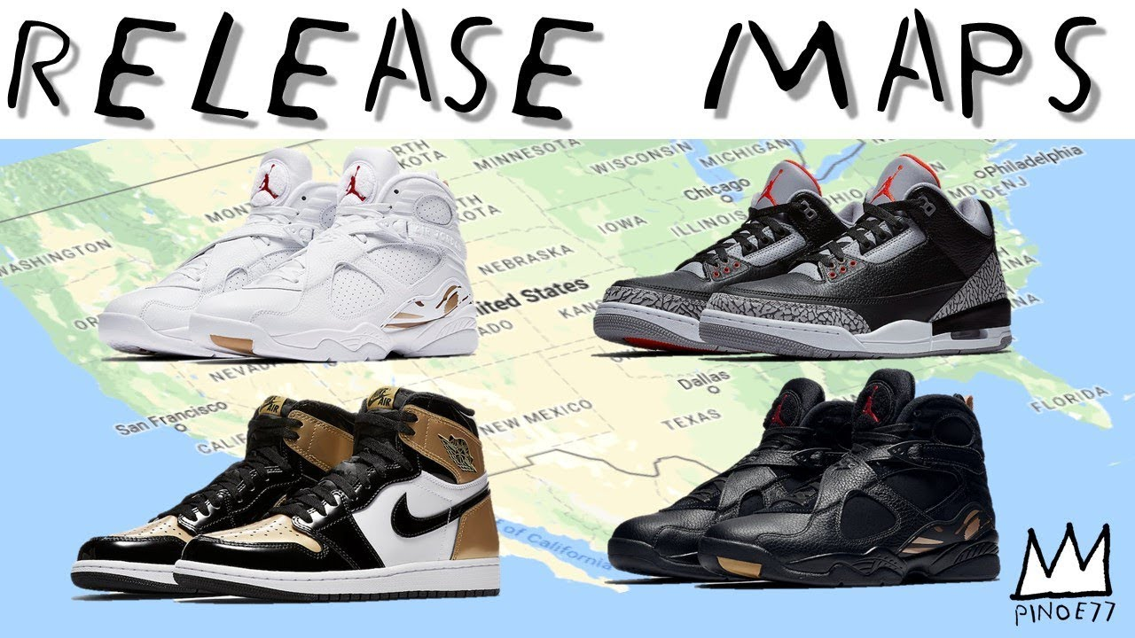 RELEASE MAPS JORDAN 3 BLACK CEMENT GOLD TOE OVO YEEZY 500 MORE - RELEASE MAPS JORDAN 3 BLACK CEMENT, GOLD TOE, OVO, YEEZY 500 & MORE!!