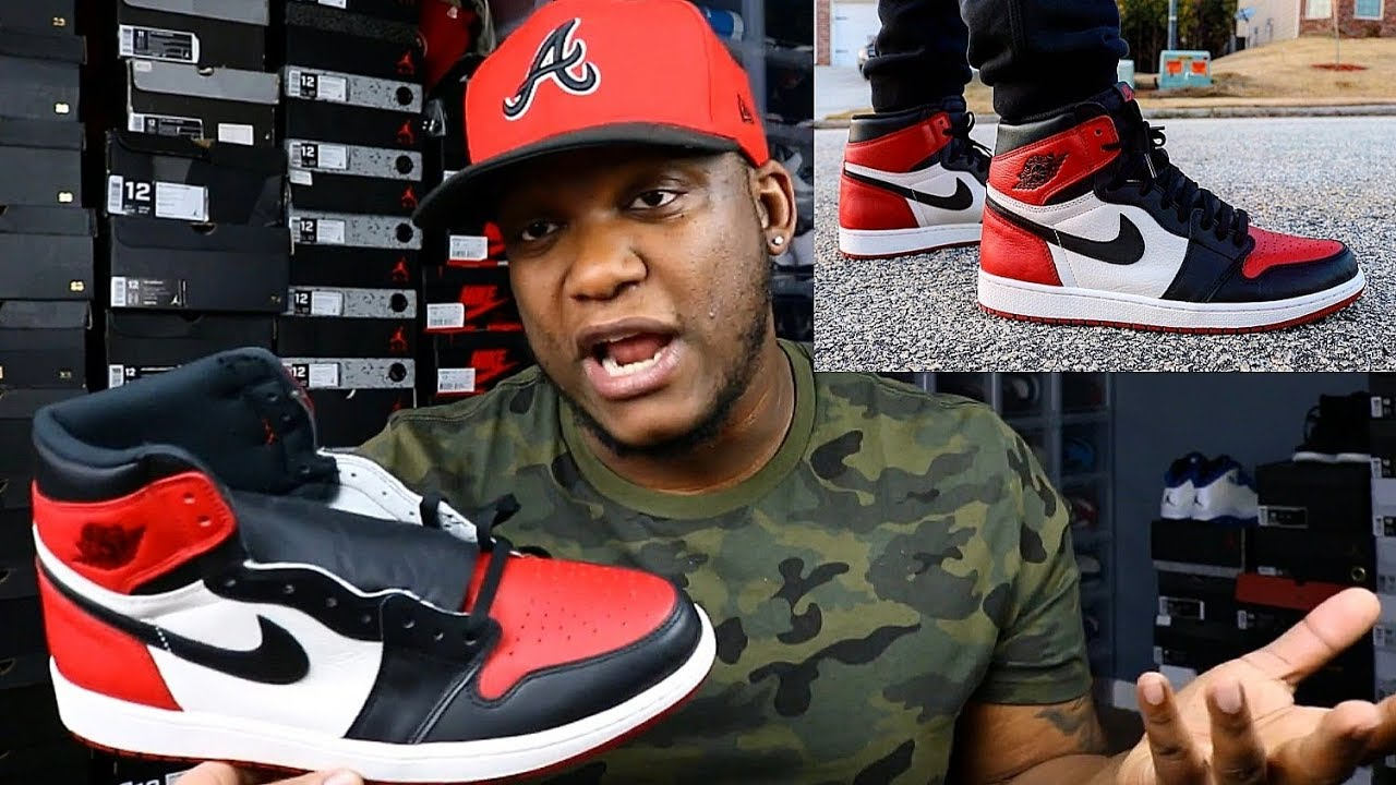 """ARE THESE WORTH PAYING RESELL PRICE JORDAN 1 BRED TOE ON FEET REVIEW - ARE THESE WORTH PAYING RESELL PRICE?? JORDAN 1 """"BRED TOE"""" ON FEET REVIEW!!!"""