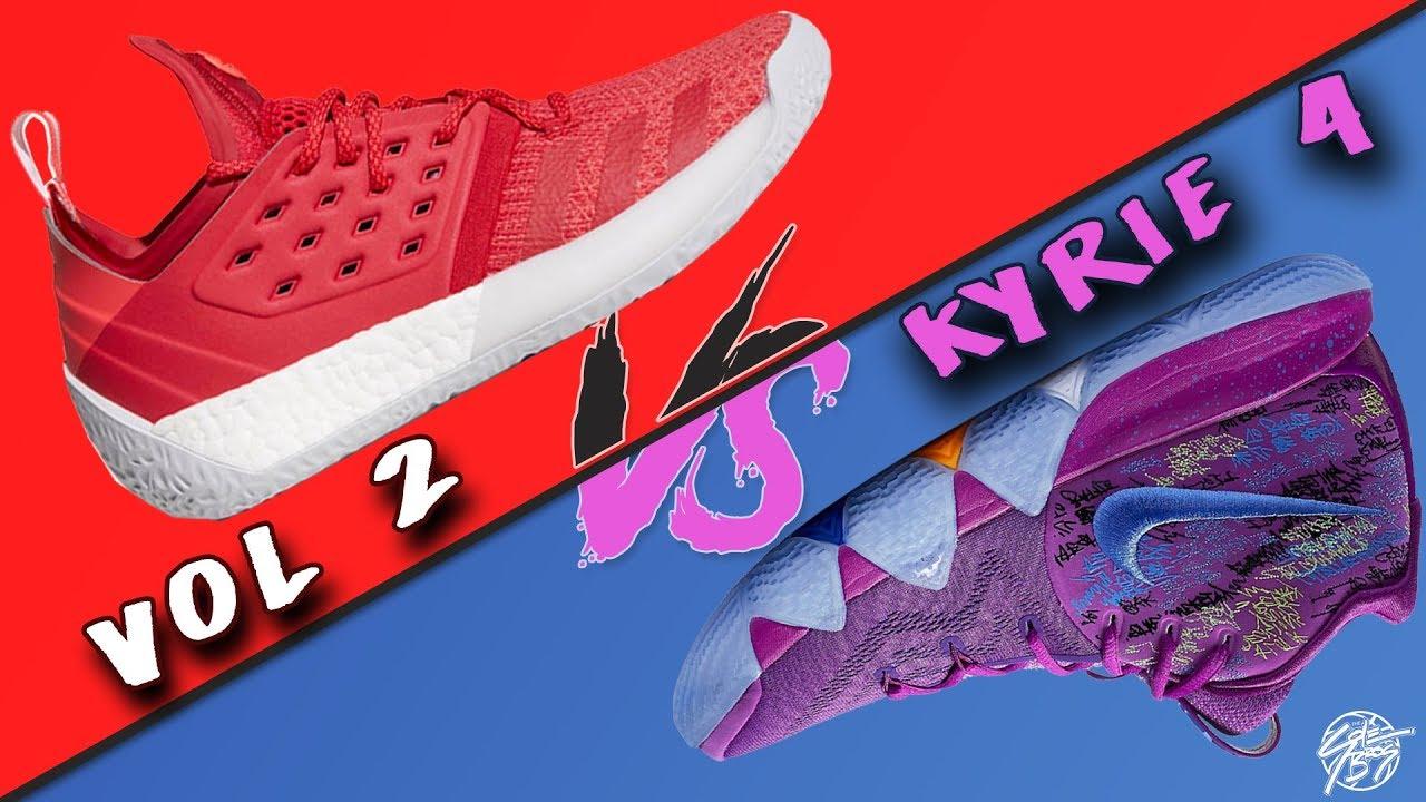 Adidas Harden Vol. 2 vs Nike Kyrie 4 - Adidas Harden Vol. 2 vs Nike Kyrie 4!