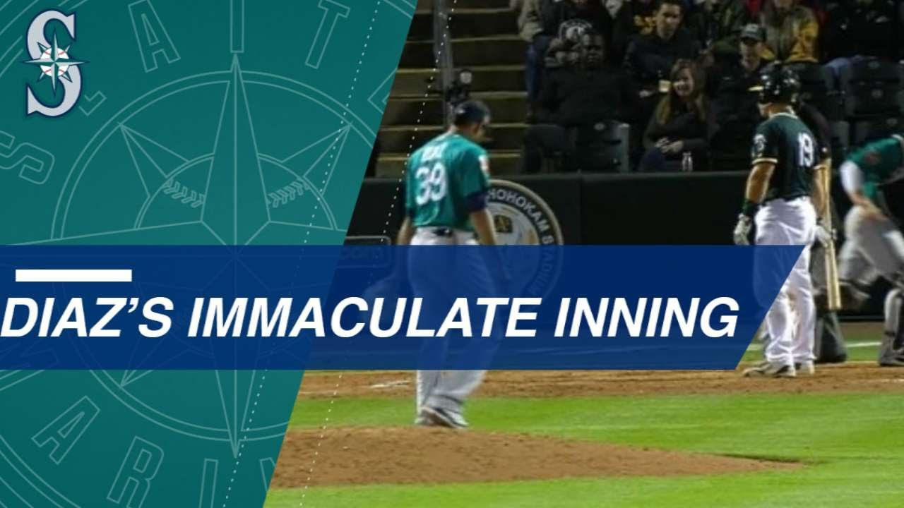 Edwin Diaz Tosses an Immaculate Innings Against the A - Edwin Diaz Tosses an Immaculate Innings Against the A
