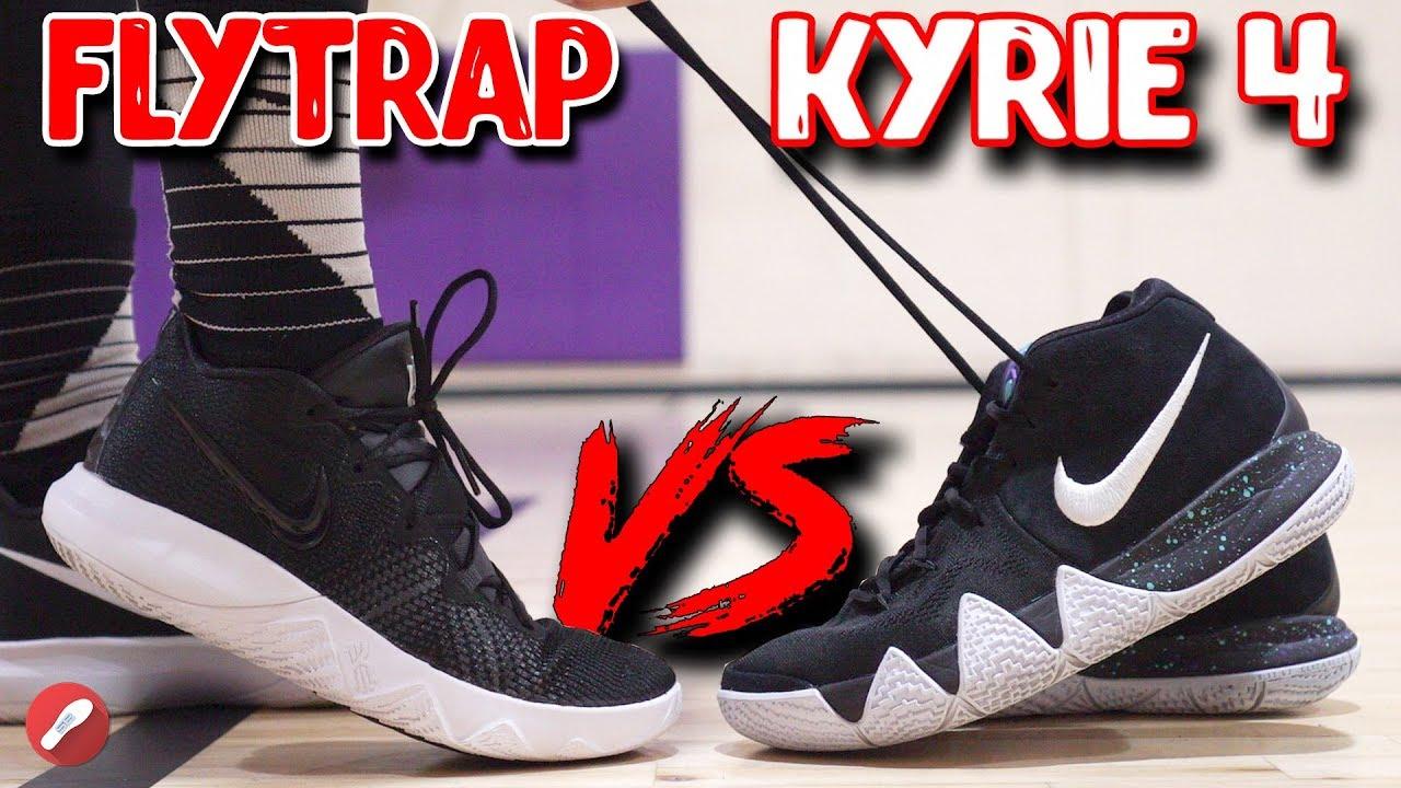 Nike Budget Kyrie Flytrap VS Kyrie 4 Whats Better - Nike Budget Kyrie Flytrap VS Kyrie 4! What's Better?!