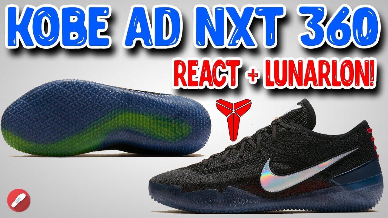 Nike Kobe AD NXT 360 First Impressions ReactLunarlon Cushion - Nike Kobe AD NXT 360 First Impressions! React+Lunarlon Cushion!