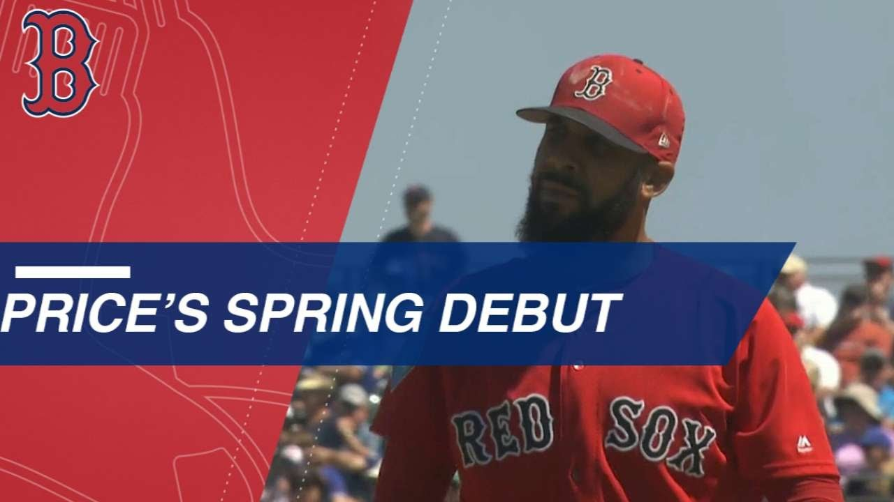 Price Fans Five Over Four Scoreless in Spring Debut - Price Fans Five Over Four Scoreless in Spring Debut