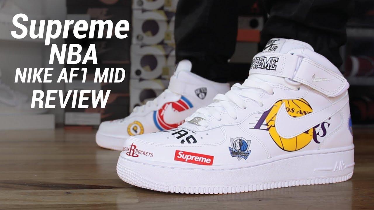 SUPREME NBA NIKE AIR FORCE 1 MID REVIEW - SUPREME NBA NIKE AIR FORCE 1 MID REVIEW
