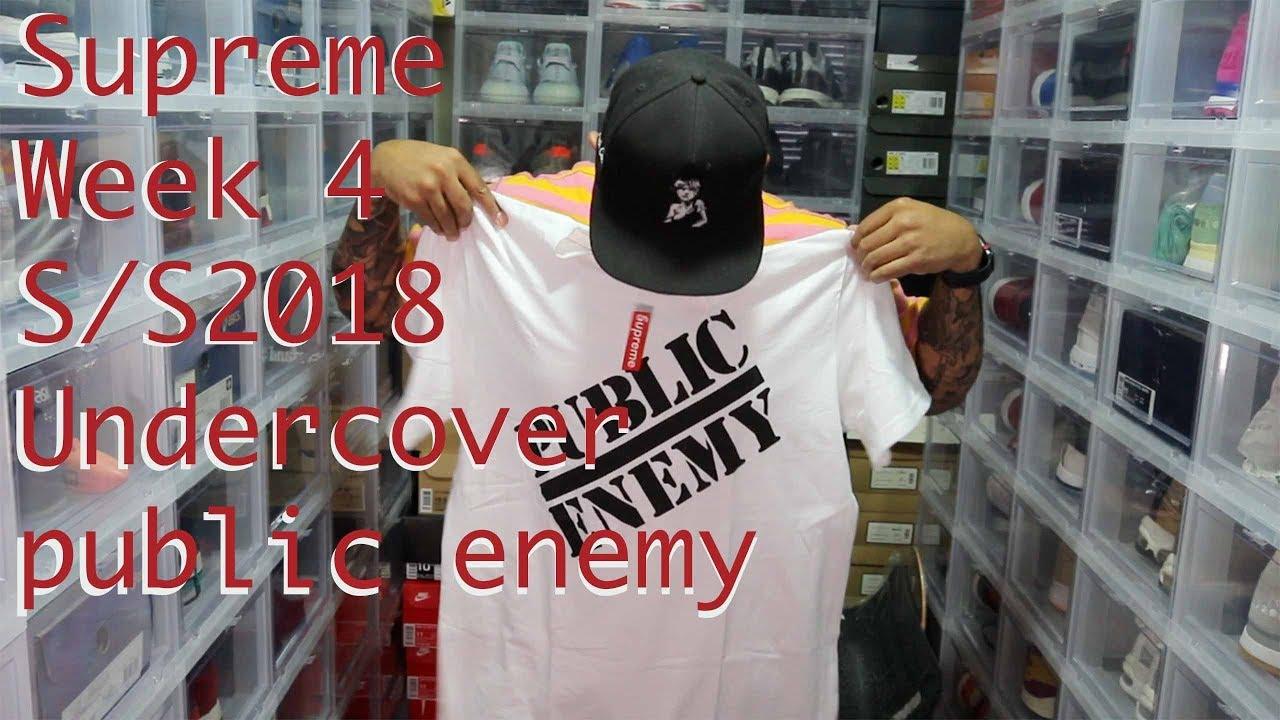 Supreme Week 4 SS2018 pick ups UndercoverPublicEnemy - Supreme Week 4 S:S2018 pick ups Undercover:PublicEnemy