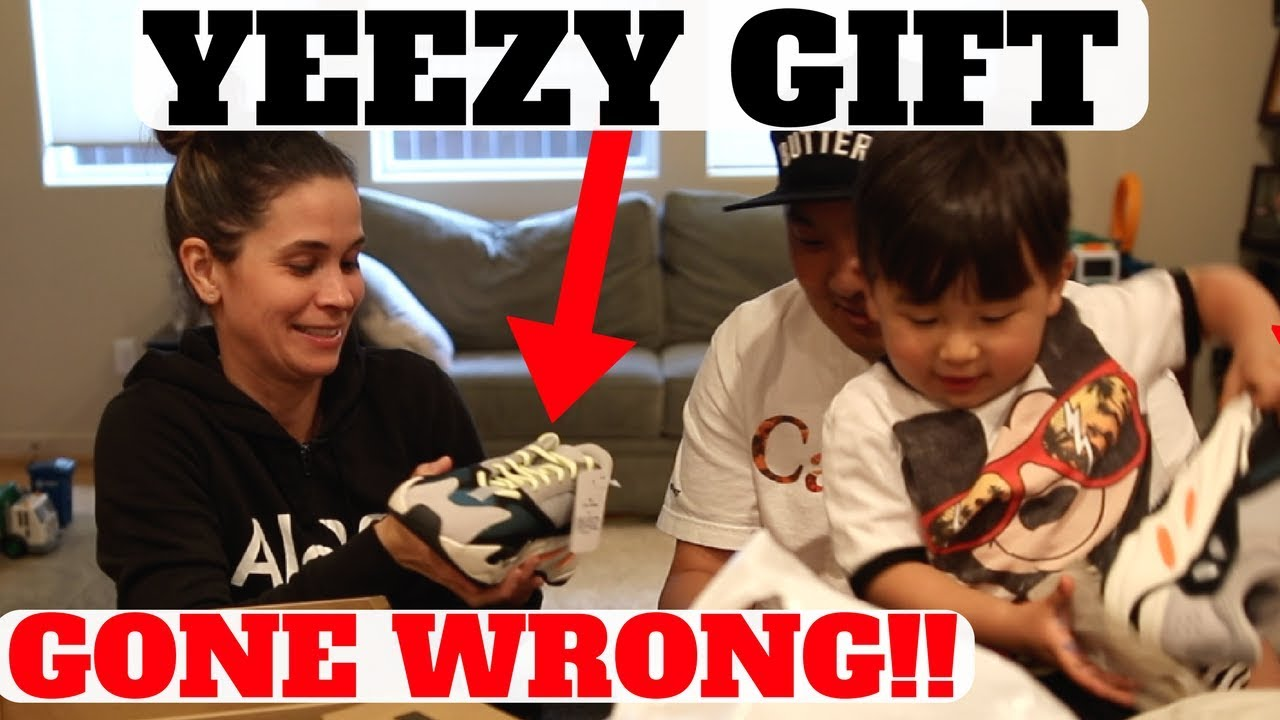 WIFES REACTION To Surprise YEEZY BOOST 700 WAVE RUNNER Gift GONE WRONG - WIFE'S REACTION To Surprise YEEZY BOOST 700 WAVE RUNNER Gift GONE WRONG!