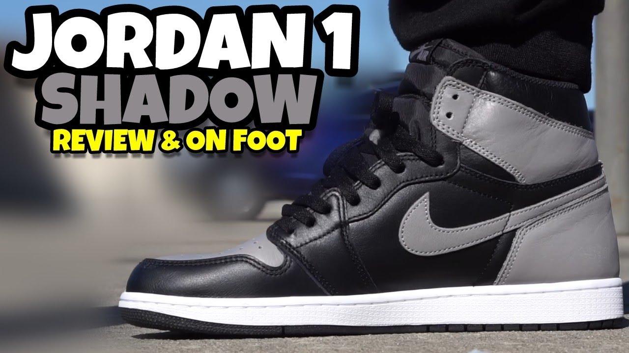 2018 JORDAN 1 SHADOW FULL REVIEW & ON FOOT