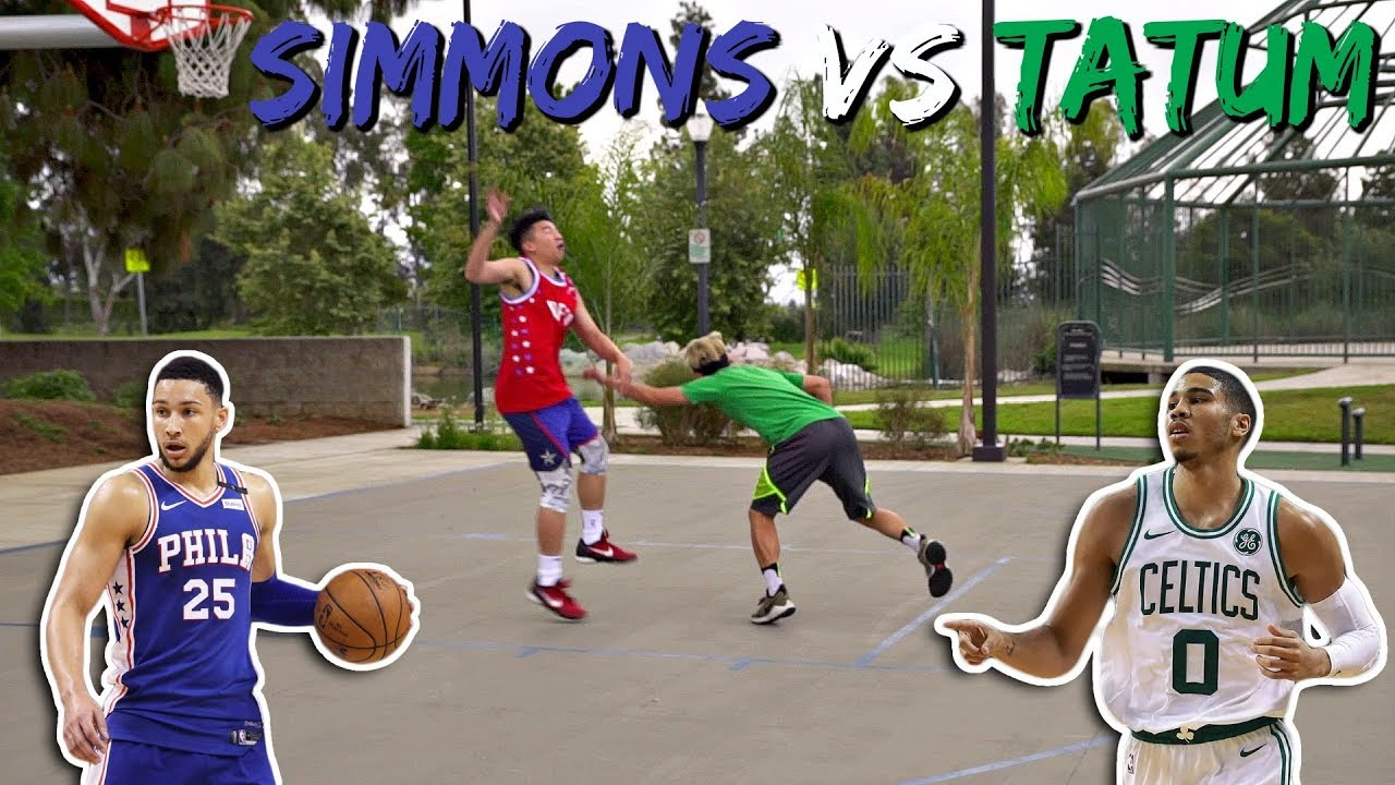 BEN SIMMONS vs. JAYSON TATUM 1 on 1 PLAYS - BEN SIMMONS vs. JAYSON TATUM 1 on 1 PLAYS!!