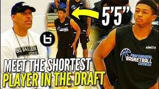 "Lavar Ball WATCHES the SHORTEST PLAYER in the DRAFT 55 Junior Robinson PBC Highlights - Lavar Ball WATCHES the SHORTEST PLAYER in the DRAFT! 5'5"" Junior Robinson PBC Highlights!"