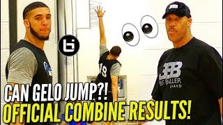 "LiAngelo Ball NBA Pre Draft OFFICIAL COMBINE TESTING RESULTS 35 VERTICAL - LiAngelo Ball NBA Pre-Draft OFFICIAL COMBINE TESTING RESULTS! 35""+ VERTICAL?!!"