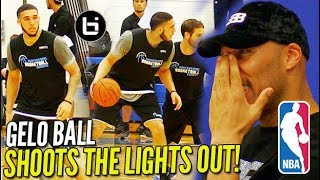 LiAngelo Ball SHOT THE LIGHTS OUT in Front of 20 NBA Scouts Pre Draft Scrimmage Highlights - LiAngelo Ball SHOT THE LIGHTS OUT in Front of 20+ NBA Scouts! Pre Draft Scrimmage Highlights!