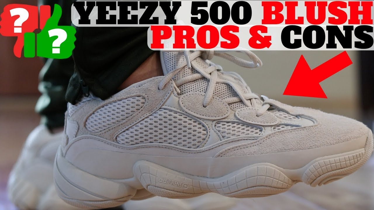 PROS CONS YEEZY 500 BLUSH Review On Feet - PROS & CONS: YEEZY 500 BLUSH Review + On Feet!