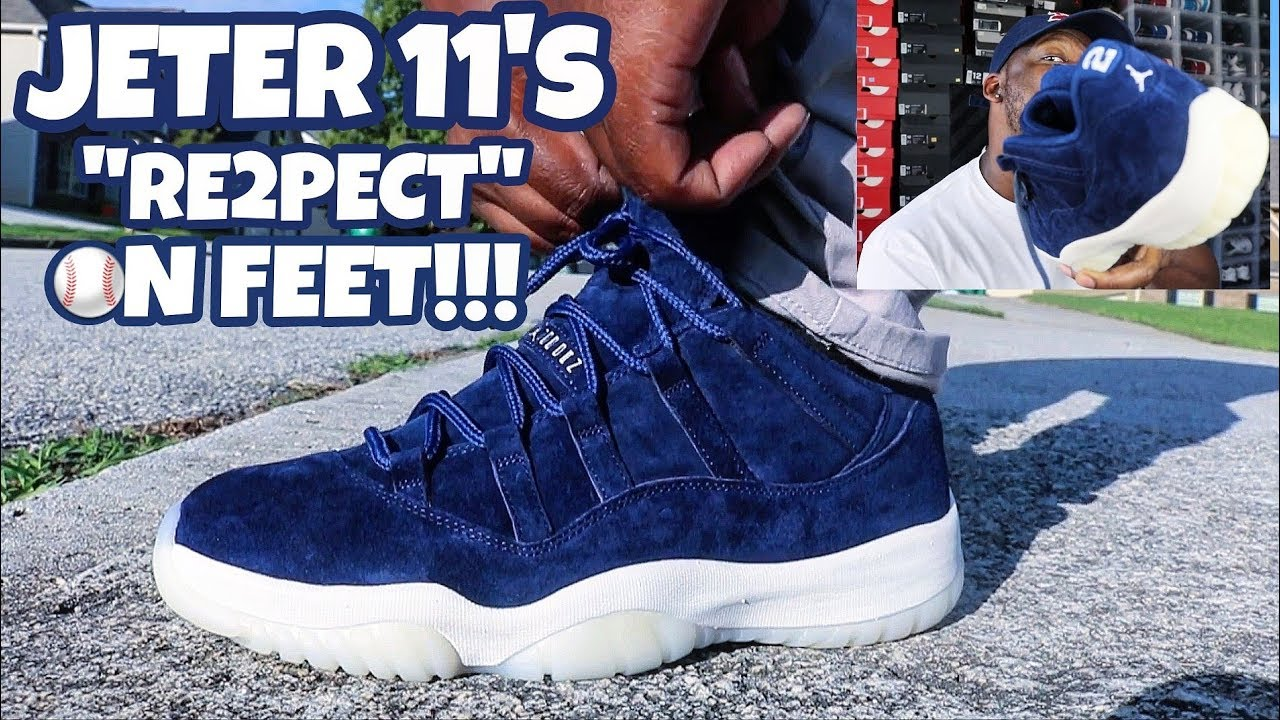 THE QUALITY IS AMAZING ON THESE JORDAN 11 LOW RE2PECTJETER ON FEET REVIEW - THE QUALITY IS AMAZING ON THESE!!! JORDAN 11 LOW RE2PECT/JETER ON FEET REVIEW!!!
