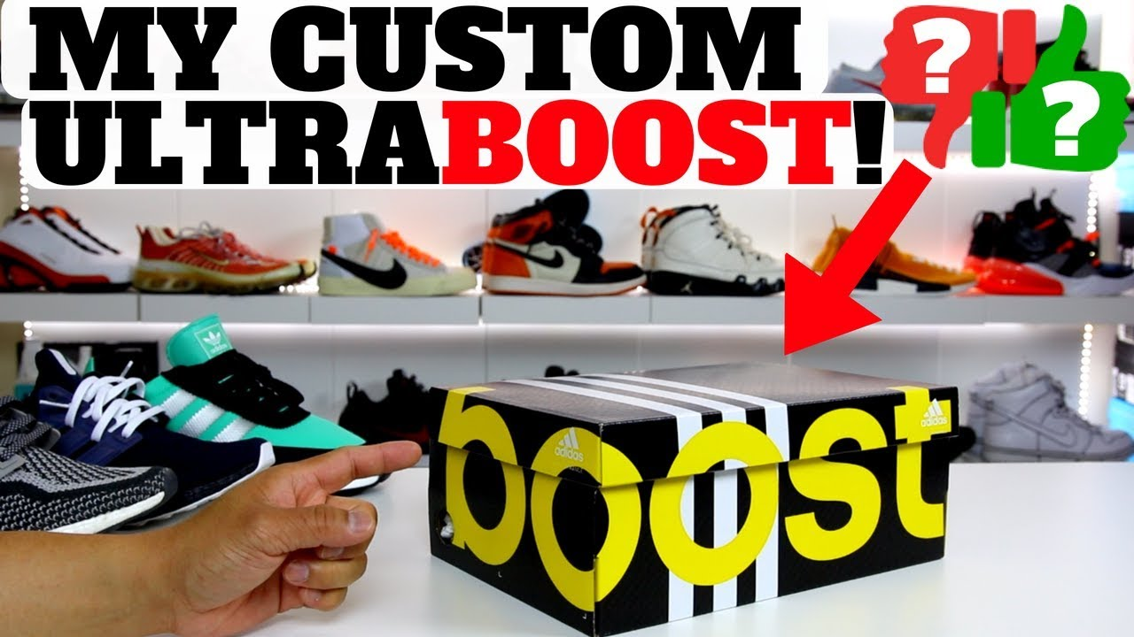 UNBOXING My Custom UltraBOOST I Made On MiAdidas - UNBOXING: My Custom UltraBOOST I Made On MiAdidas!!