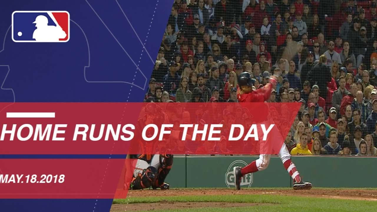 Watch all the home runs from May 18 2018 - Watch all the home runs from May 18, 2018
