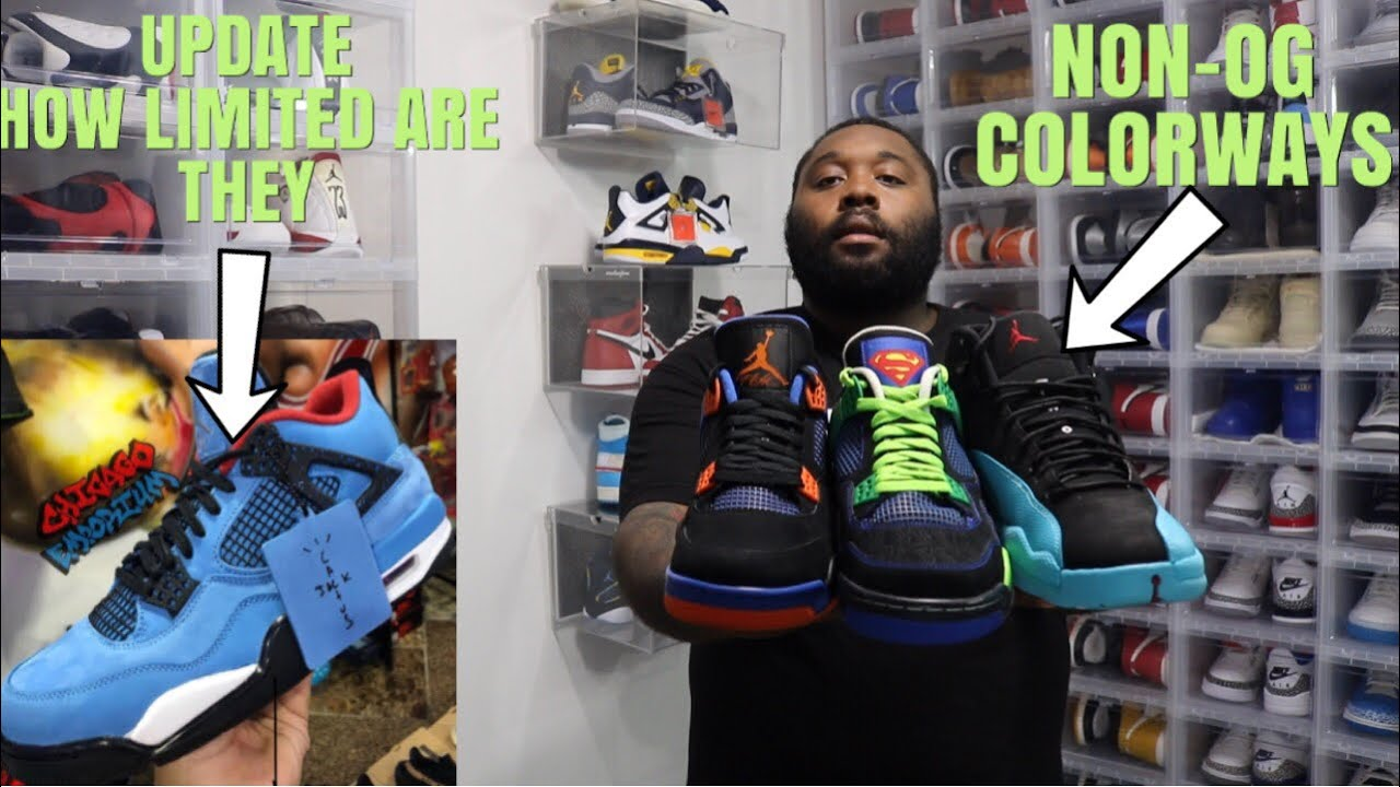 "BEST NON OG COLORWAYS IN AIR JORDAN JORDAN 4 TRAVIS SCOTT CACTUS JACK UPDATE ARE THEY LIMITED - BEST NON OG COLORWAYS IN AIR JORDAN! JORDAN 4 TRAVIS SCOTT ""CACTUS JACK"" UPDATE! ARE THEY LIMITED"
