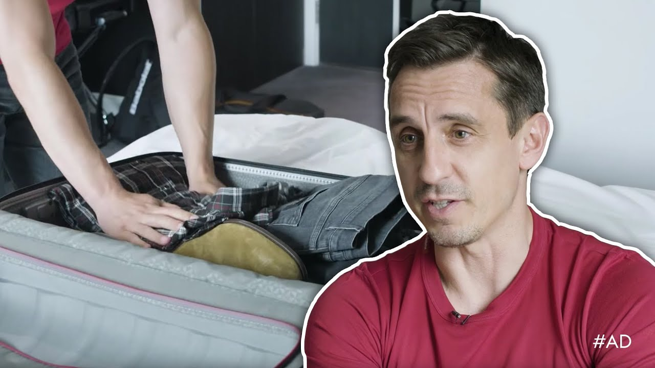 Gary Neville packs for the 2018 World Cup in Russia  - Gary Neville packs for the 2018 World Cup in Russia! 🇷🇺