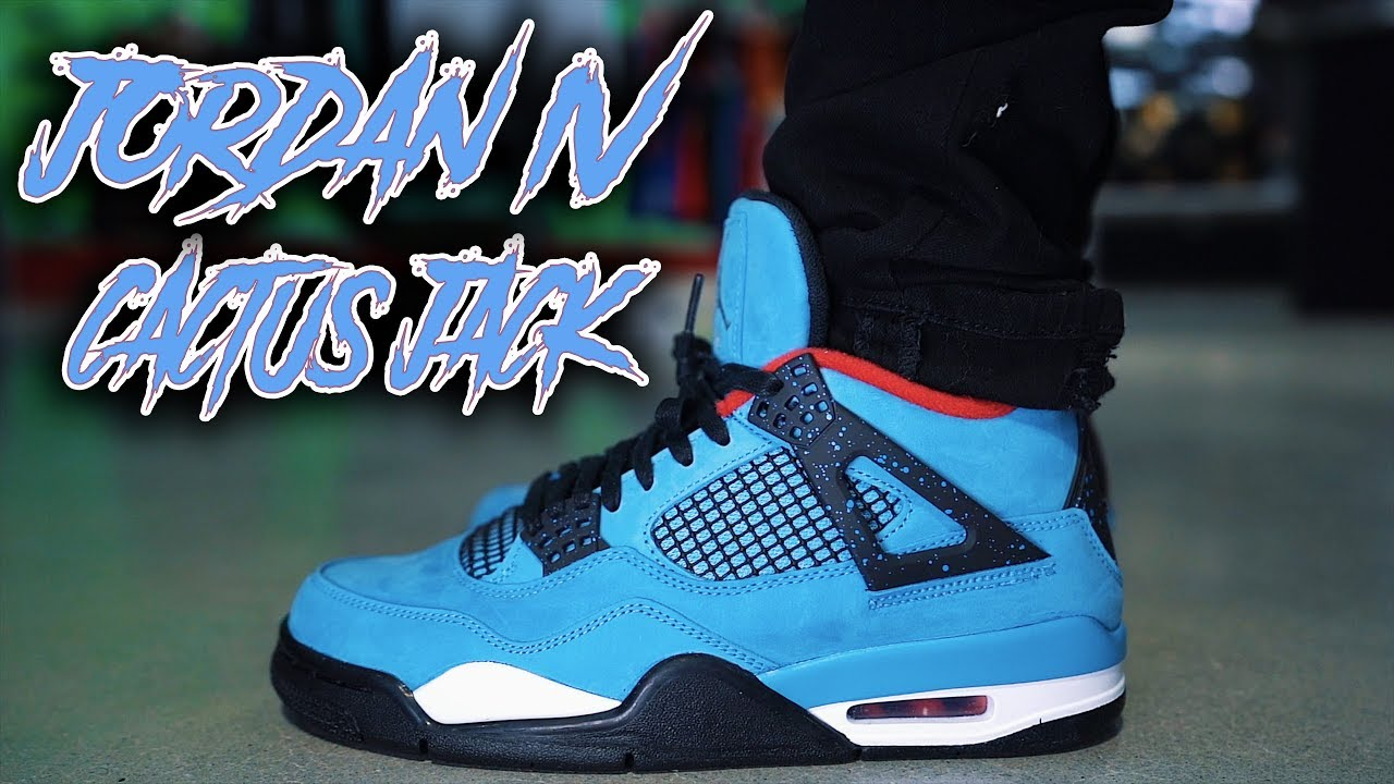 JORDAN 4 TRAVIS SCOTT CACTUS JACK REVIEW AND ON FOOT  - JORDAN 4 TRAVIS SCOTT CACTUS JACK REVIEW AND ON FOOT !!!