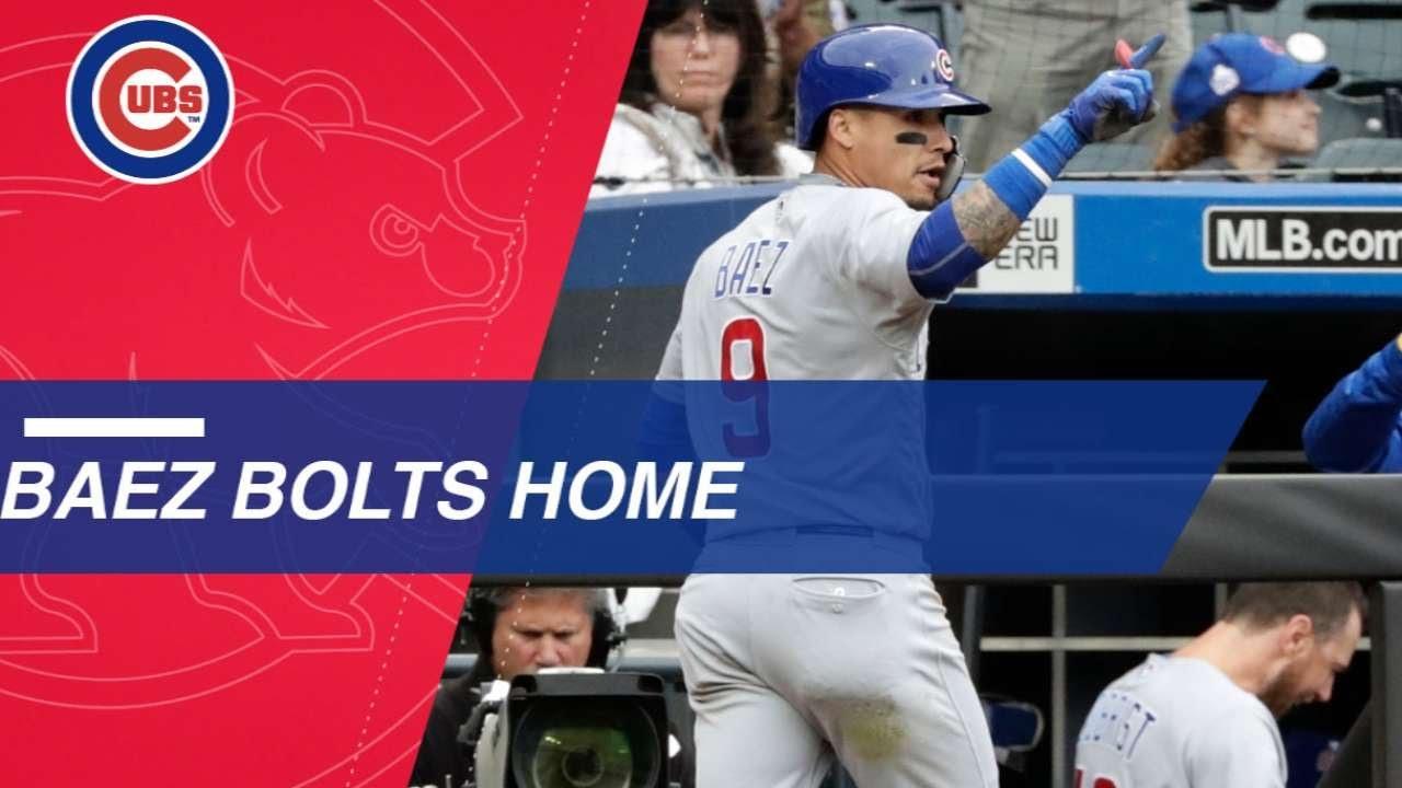 Javier Baez steals home against the Mets - Javier Baez steals home against the Mets