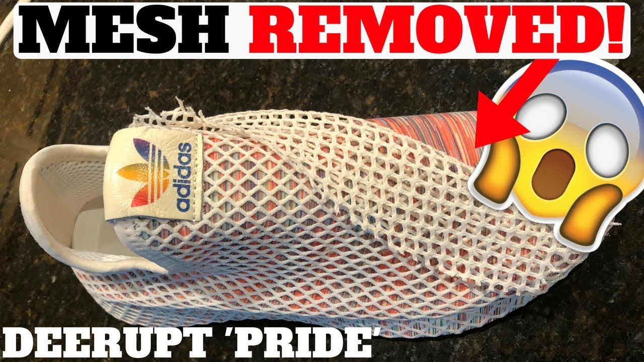 MESH NET REMOVAL Adidas DEERUPT PRIDE - MESH NET REMOVAL! Adidas DEERUPT 'PRIDE'