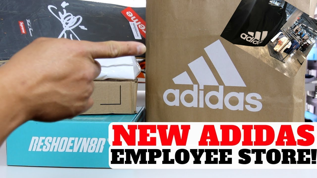 NEW ADIDAS EMPLOYEE STORE WAS DOPE - NEW ADIDAS EMPLOYEE STORE WAS DOPE!!