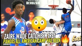 """Young Flash Zaire Wade CATCHES FIRE at Pangos All American Camp Dude Gets POSTERIZED BAD - """"Young Flash"""" Zaire Wade CATCHES FIRE at Pangos All American Camp!!! + Dude Gets POSTERIZED BAD!"""