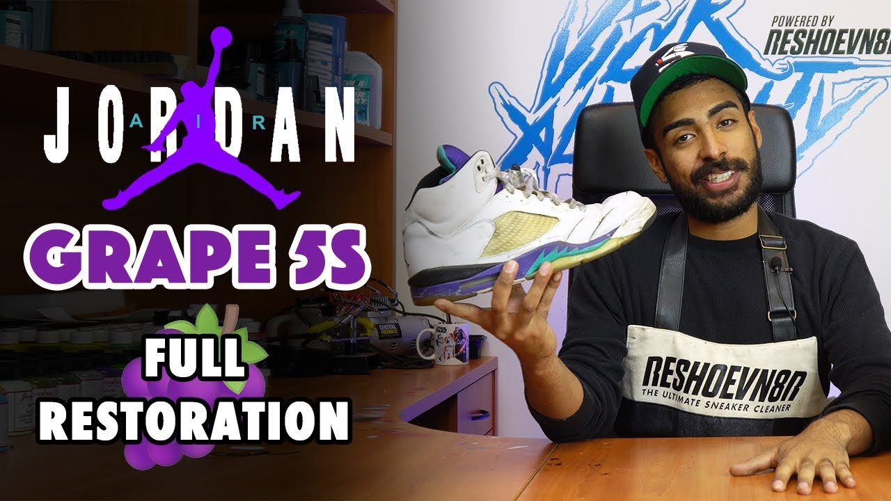 2006 Fresh Prince Jordan 5 Grape Restoration by Vick Almighty - 2006 Fresh Prince Jordan 5 Grape Restoration by Vick Almighty
